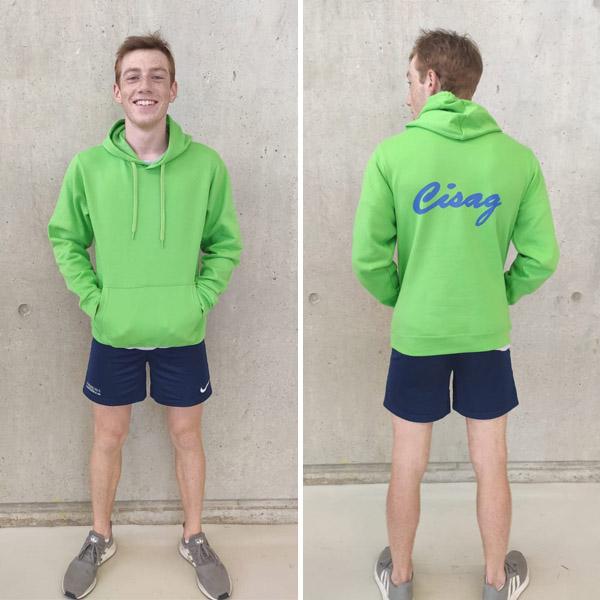 Sweat vert CISAG